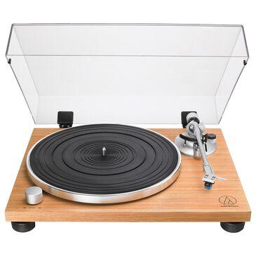 Audio-Technica Fully Manual Belt-Drive Turntable in Teak, , large