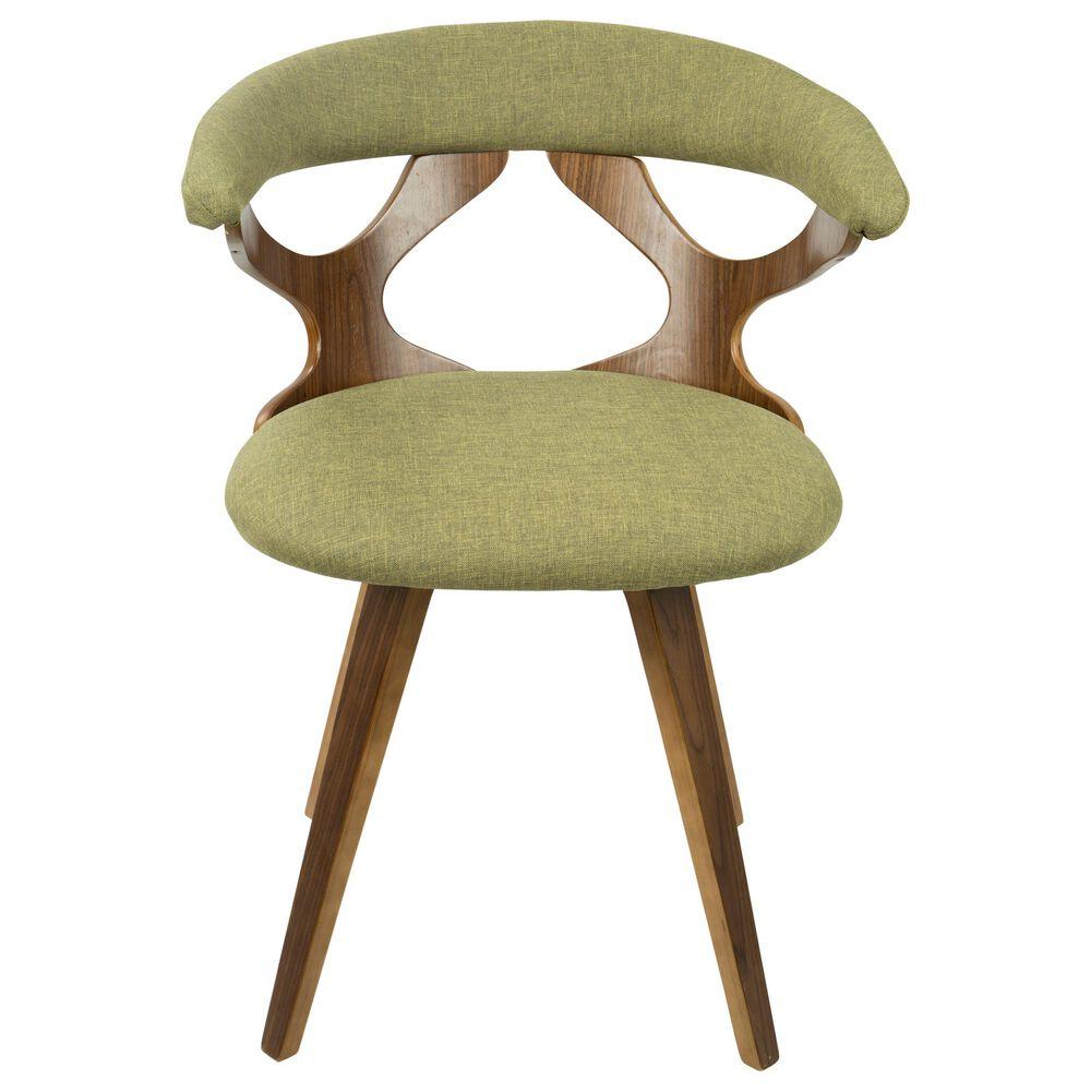 Lumisource Gardenia Dining Chair in Green/Walnut, , large