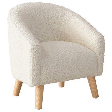 Skyline Furniture Upholstered Kids Chair in Sheepskin Natural, , large