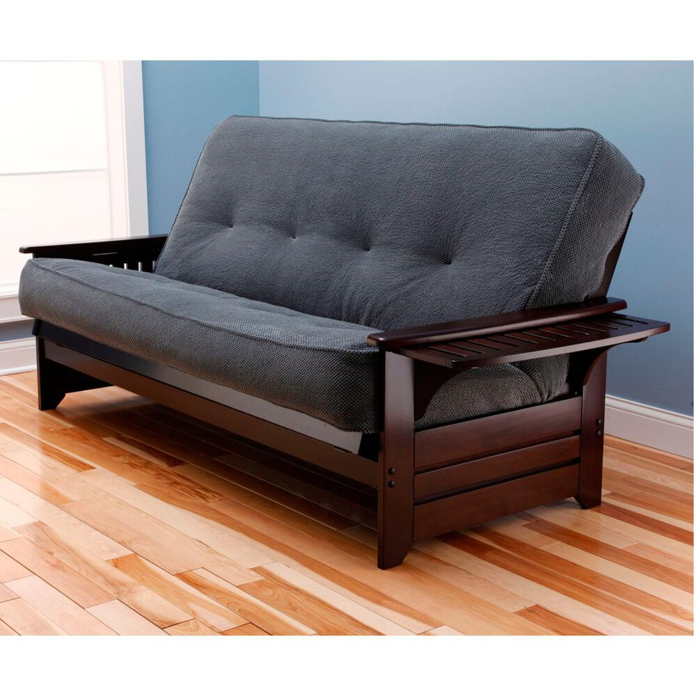 Kodiak Furniture Phoenix Futon in Espresso with Marmont Thunder Mattress, , large