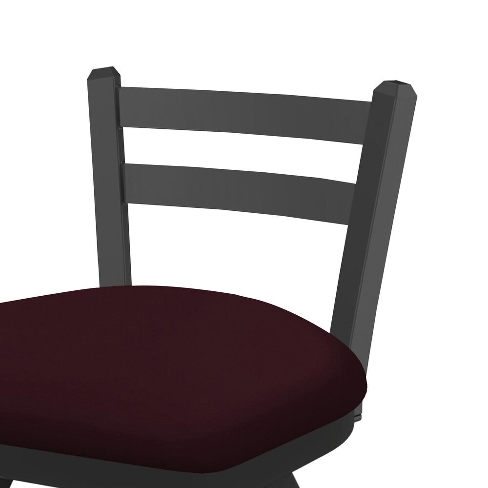 """Holland Bar Stool 411 Jackie 25"""" Low Back Swivel Counter Stool with Pewter and Canter Bordeaux Seat, , large"""