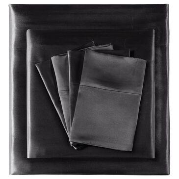 Hampton Park Satin 6-Piece Queen Sheet Set in Black, , large