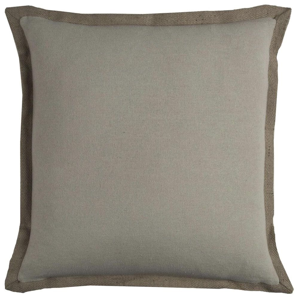 """Rizzy Home 22"""" x 22"""" Pillow Cover in Brown, , large"""