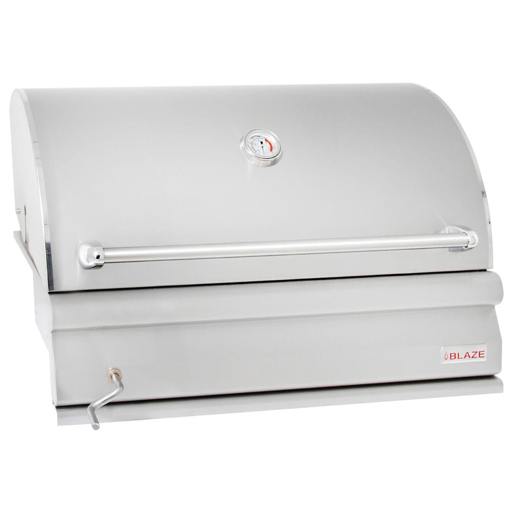 "Blaze 32"" Professional Charcoal Grill in Stainless Steel, , large"