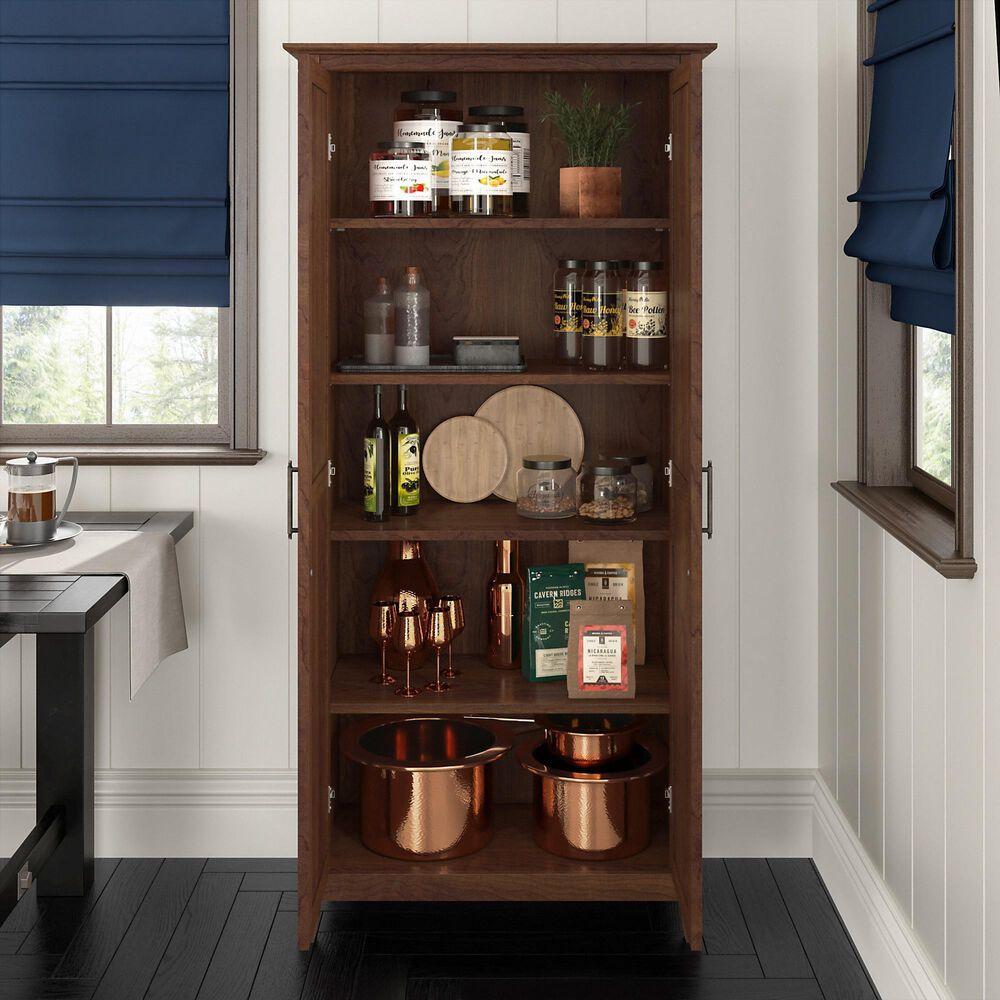 Bush Key West Kitchen Pantry Cabinet in Bing Cherry, , large