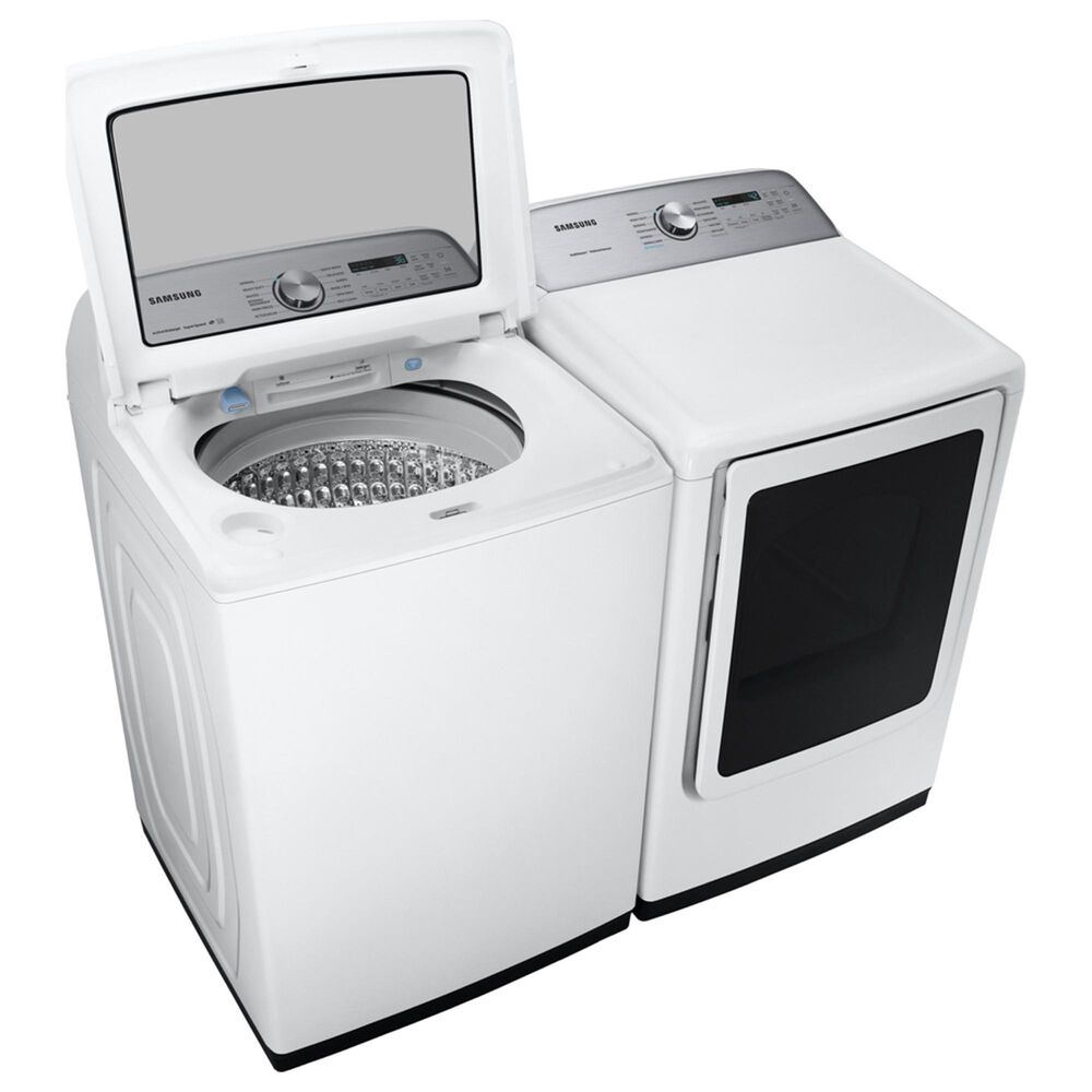 Samsung 5 Cu. Ft. Top Load Washer and 7.4 Cu. Ft. Electric Dryer in White , , large