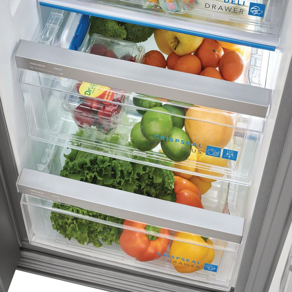 """Frigidaire Gallery 25.6 Cu. Ft. 36"""" Standard Depth Side-by-Side Refrigerator in Stainless Steel , , large"""