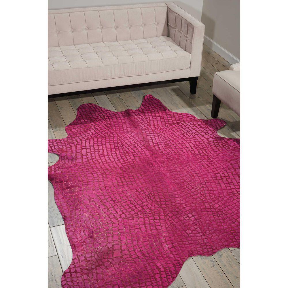 Nourison Couture BR700 5' x 7' Fuschia Area Rug, , large