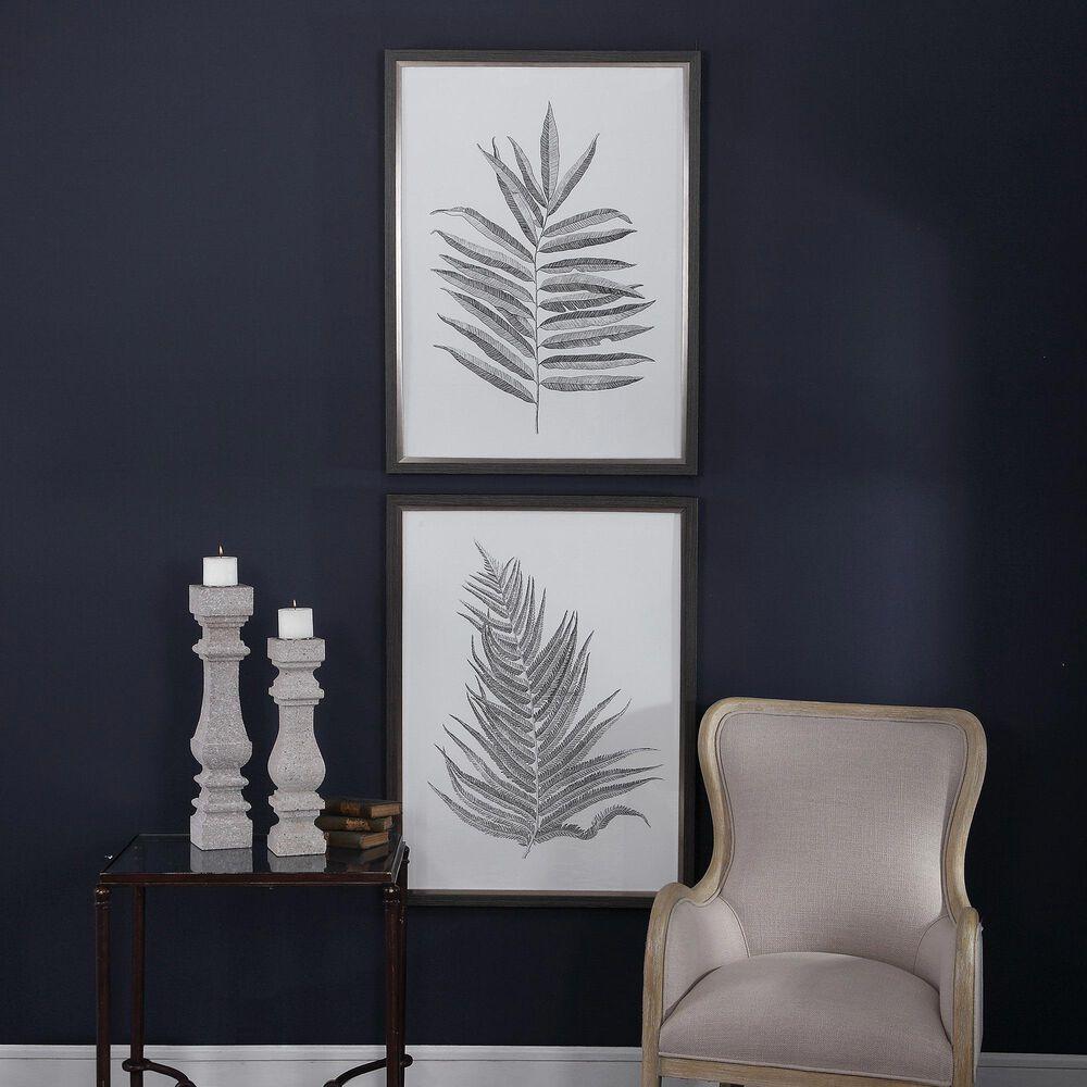 Uttermost Silver Ferns Framed Prints (Set of 2), , large