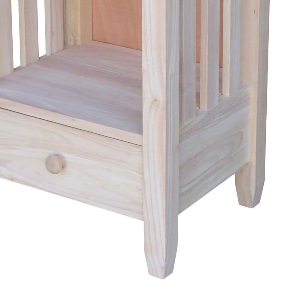 International Concepts Modern Farmhouse Mission End Table in Unfinished, , large