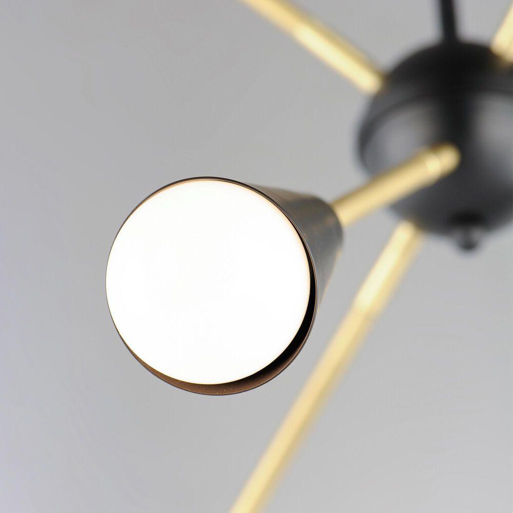 Maxim Lighting Lovell 6-Light Pendant in Black and Satin Brass, , large