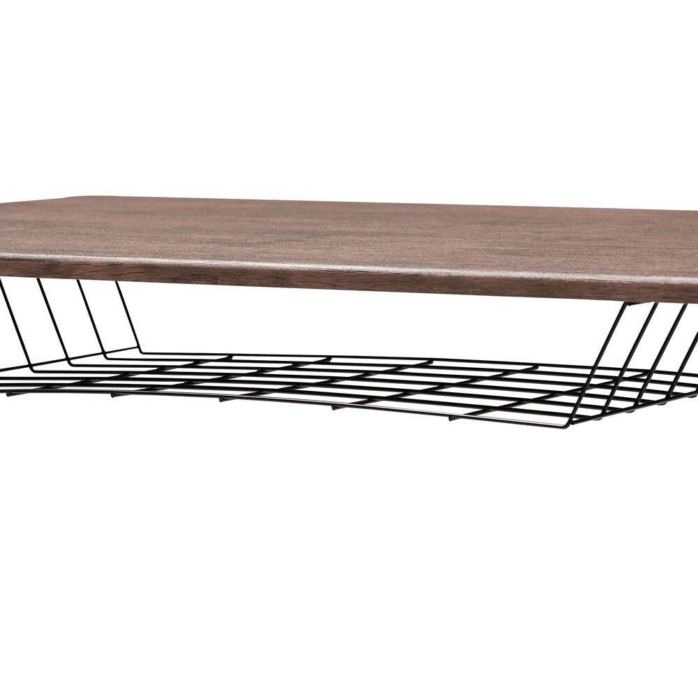Baxton Studio Anisa Adjustable Desk in Walnut, , large