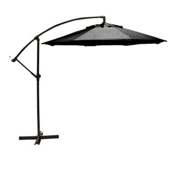 Firefly 9' Cantilever Umbrella in Black with Base, , large