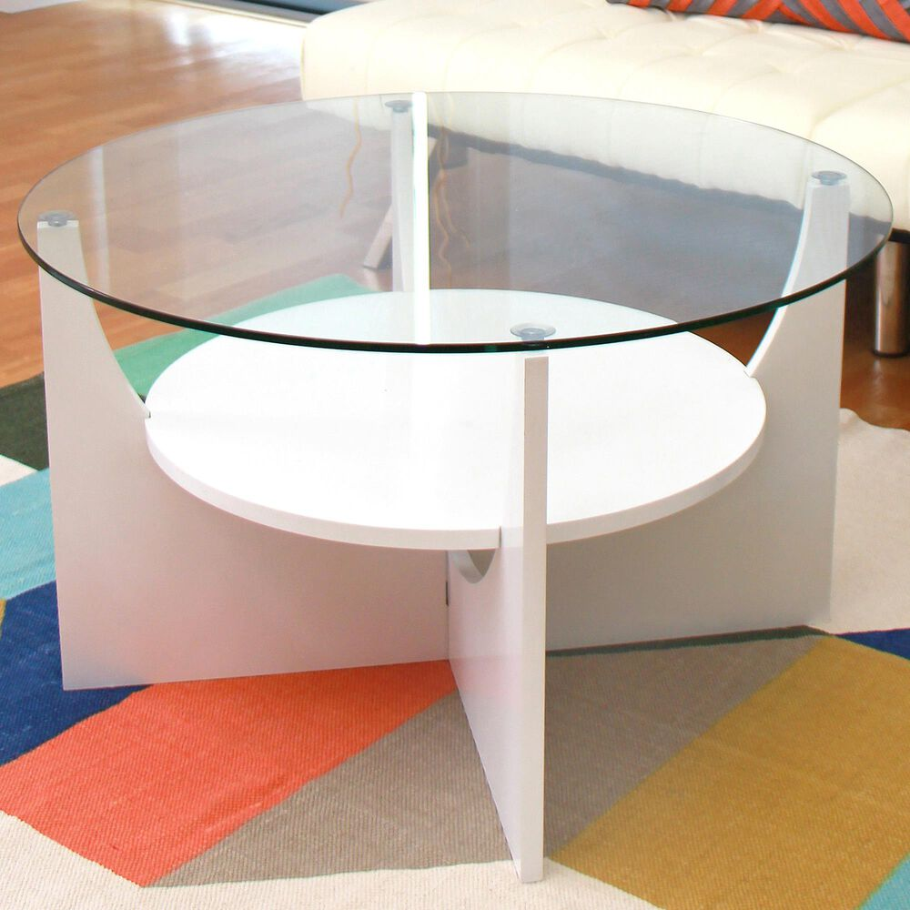 Lumisource U-Shaped Coffee Table in White, , large