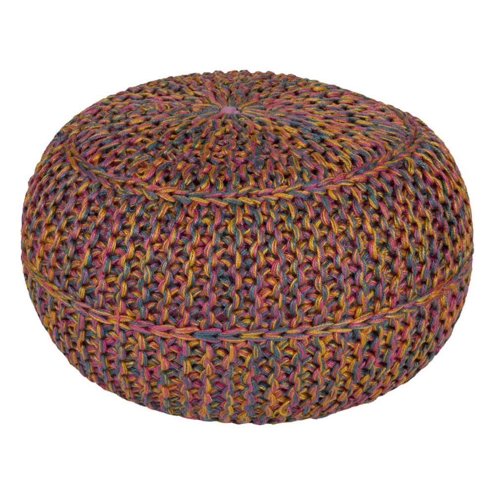 Surya Inc Wisteria Sphere Pouf in Multicolor, , large