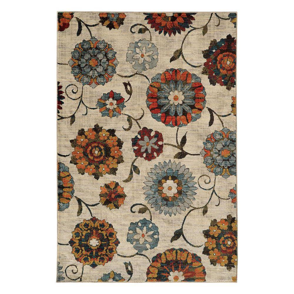 "Oriental Weavers Sedona 6361A 6'7"" x 9'1"" Ivory Area Rug, , large"
