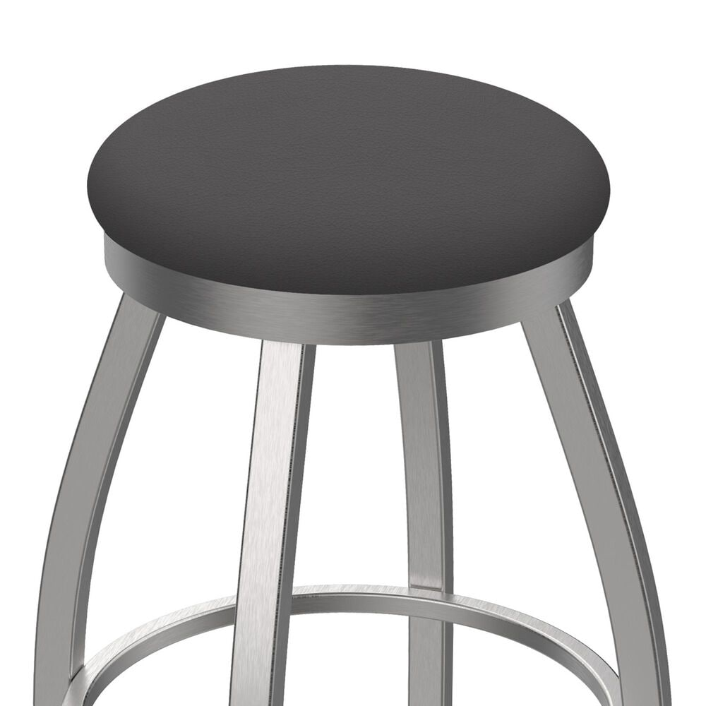 """Holland Bar Stool 802 Misha 25"""" Swivel Counter Stool with Stainless and Canter Storm Seat, , large"""