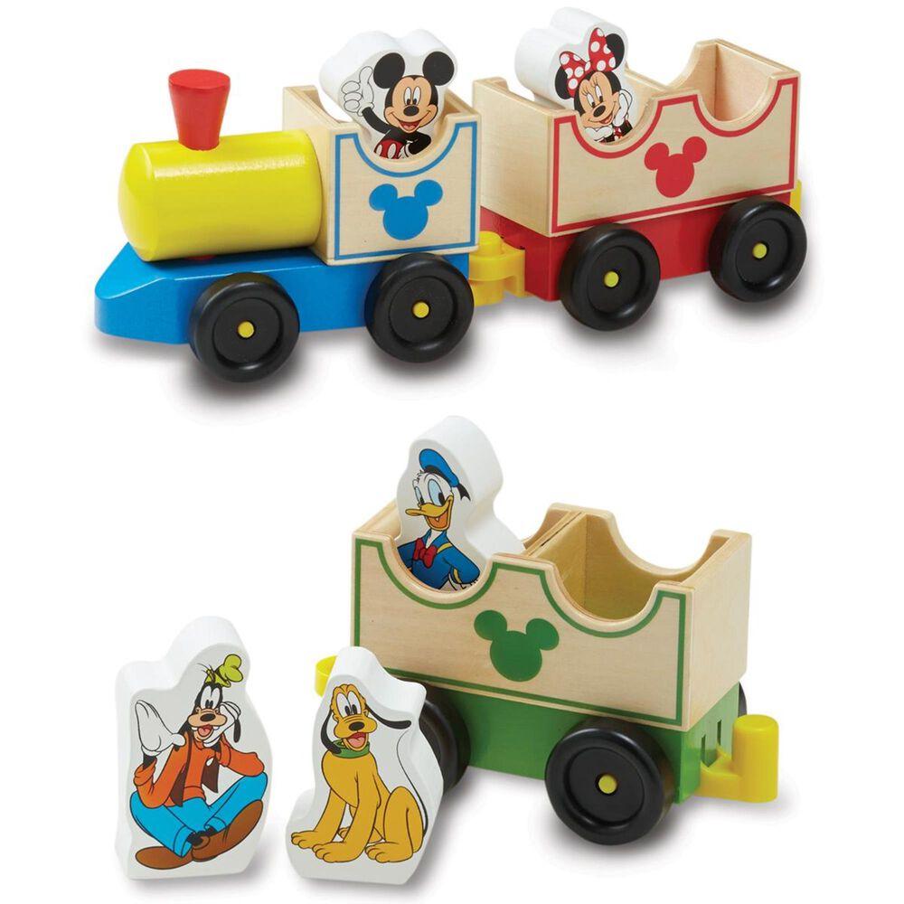 Melissa & Doug Mickey Mouse All Aboard Train Set, , large