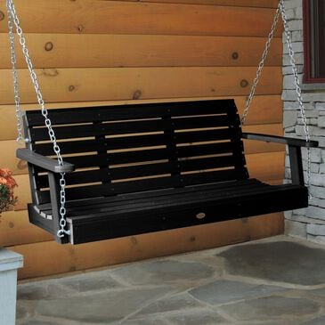 Highwood USA Weatherly 4' Porch Swing in Black, , large