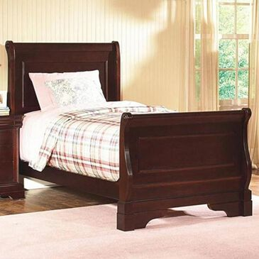 New Heritage Design Versaille Twin Sleigh Bed in Bordeaux, , large