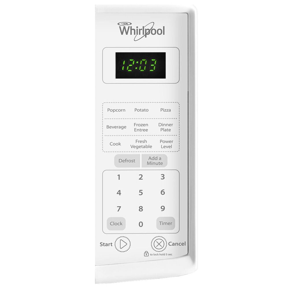 Whirlpool 0.7 Cu. Ft. Countertop Microwave in White, White, large