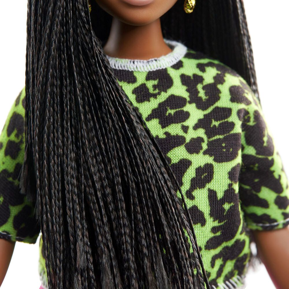 Barbie Fashionista Long Braids in Neon Look, , large