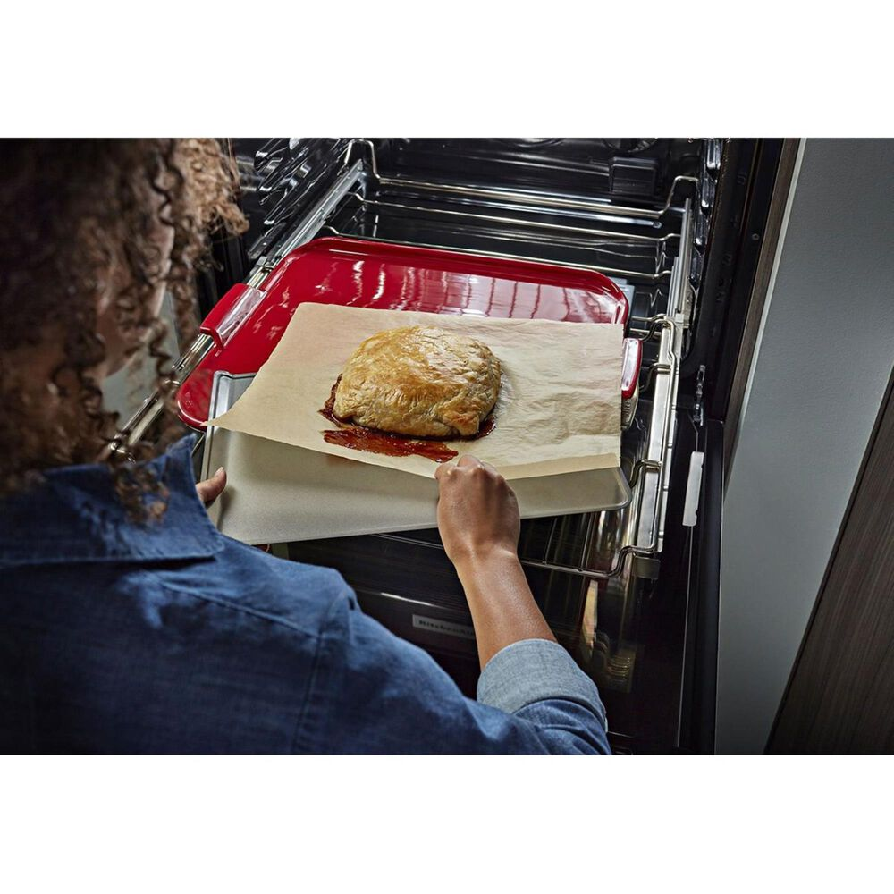 """KitchenAid 30"""" Single Wall Oven in Black Stainless Steel, , large"""