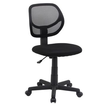 Global Seating Mesh Task Chair Without Arms in Ebony Black, , large