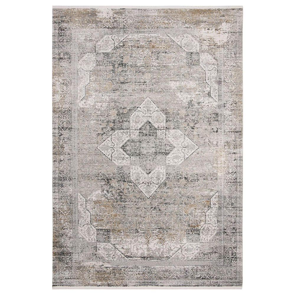 Safavieh Eclipse ECL755 6' x 9' Light Grey and Grey Area Rug, , large