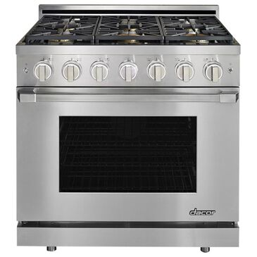 """Dacor Heritage 36"""" Gas Pro Liquid Propane High Altitude Range in Stainless Steel, , large"""
