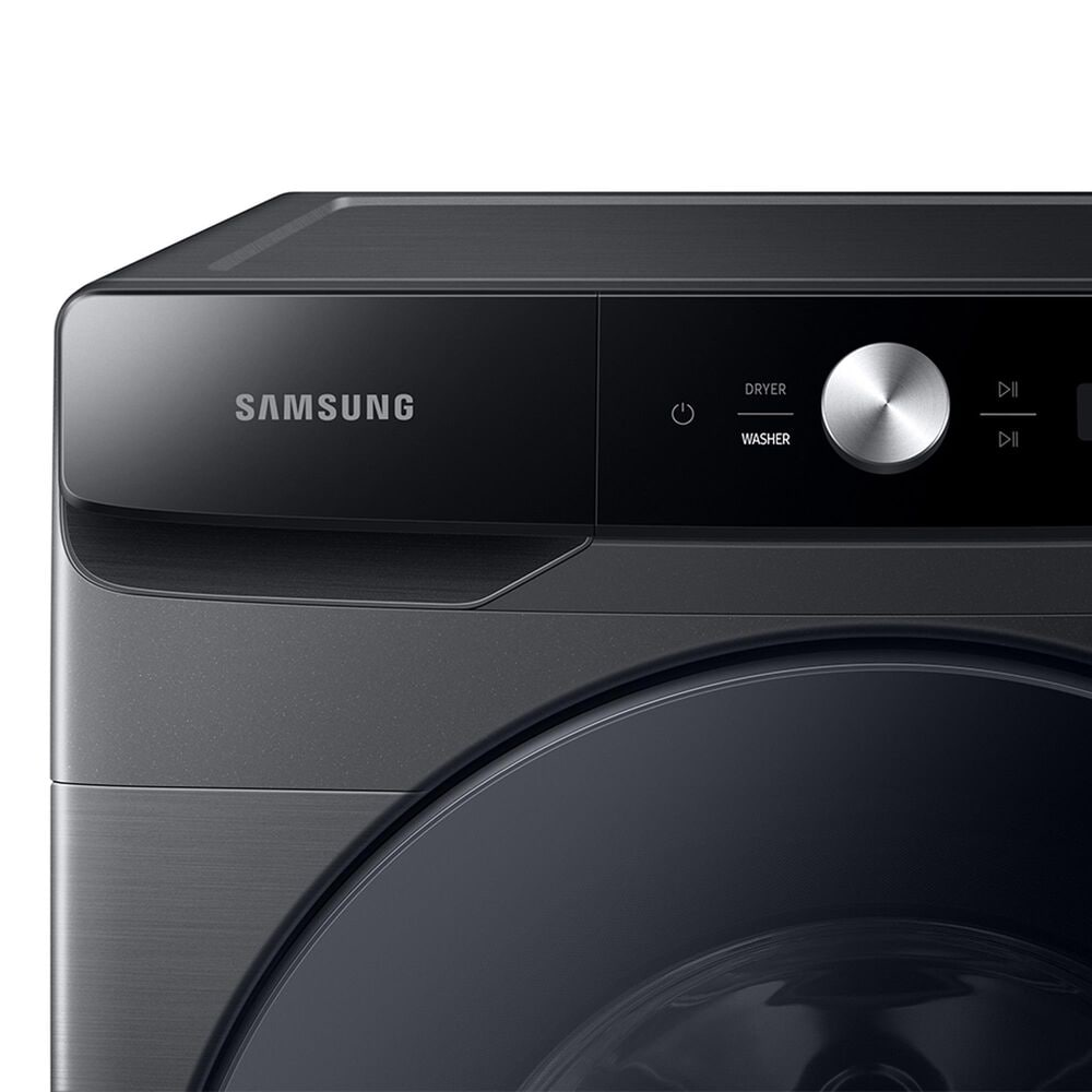 Samsung 5 Cu. Ft. Front Load Washer and 7.5 Cu. Ft. Gas Dryer Laundry Pair with Sensor Dry and Smart Care in Brushed Black, , large