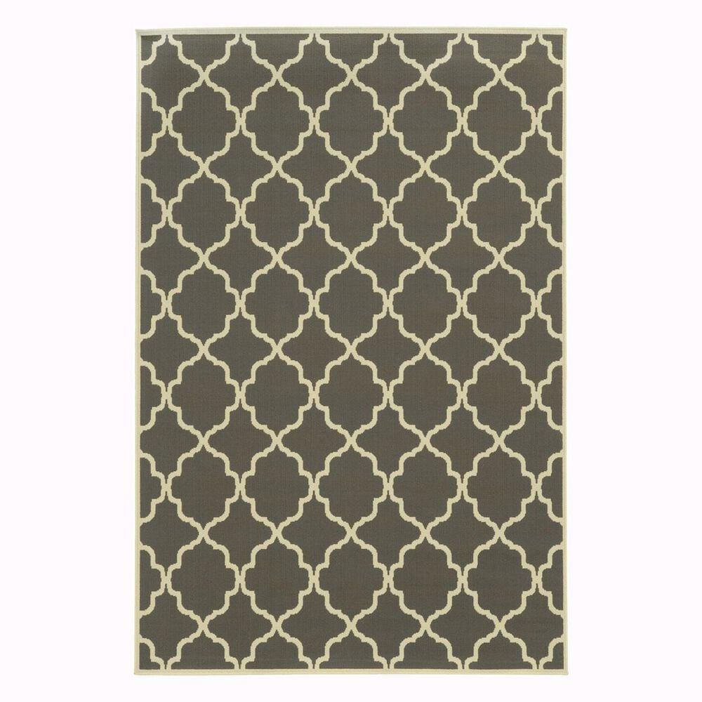 """Oriental Weavers Riviera 4770W 1'9"""" x 3'9"""" Charcoal Scatter Rug, , large"""