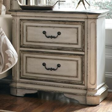 Belle Furnishings Magnolia Manor Nightstand in Antique White, , large