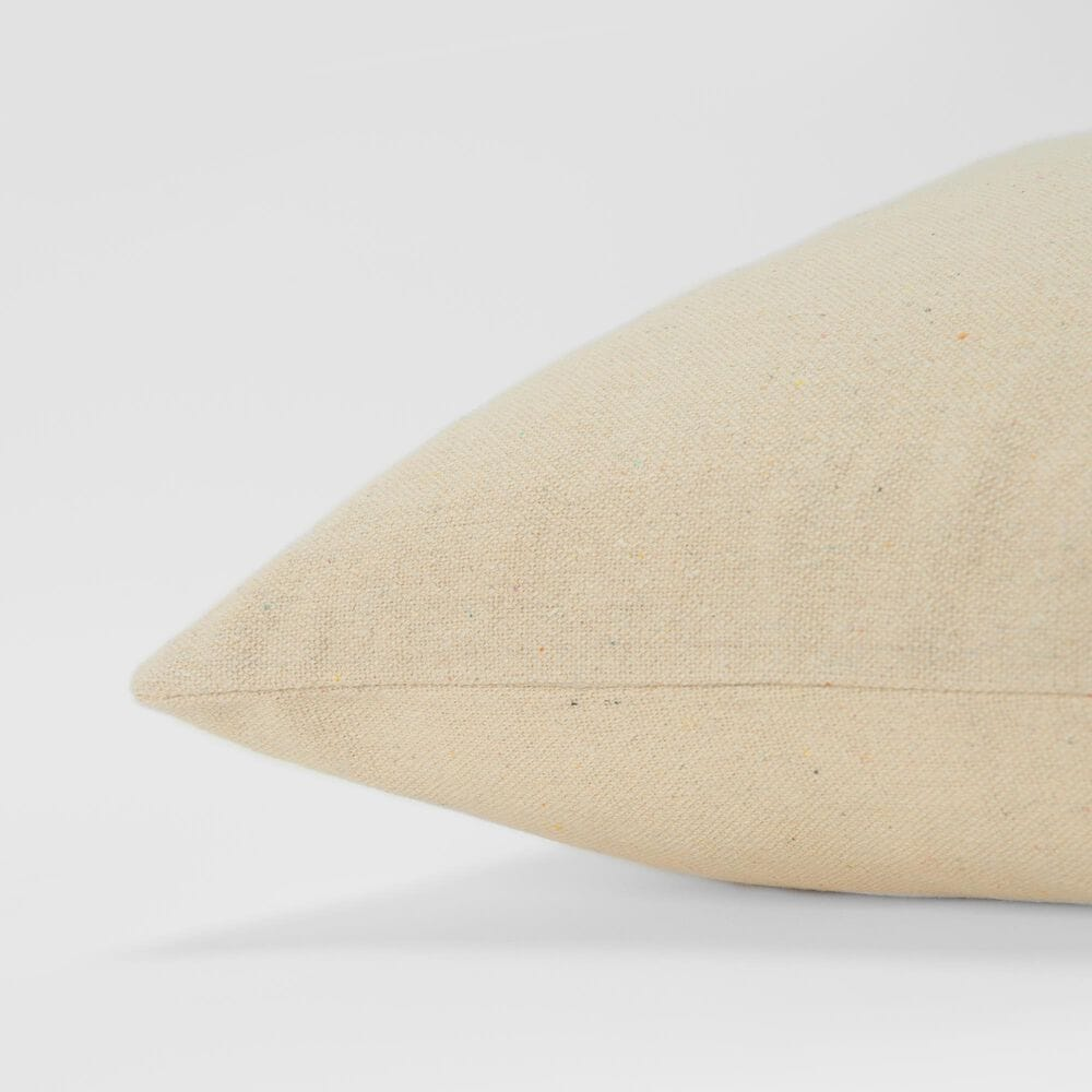 """Rizzy Home Transitional Sentiment 20"""" Pillow Cover in Natural, , large"""