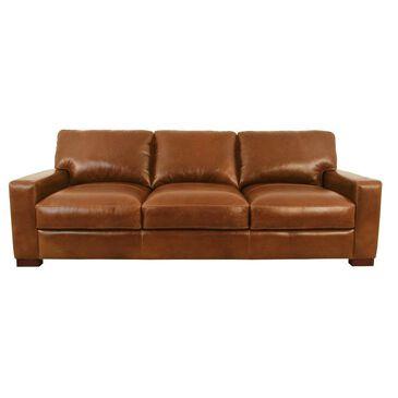 Softline Leather Sofa in Splendor Chestnut, , large