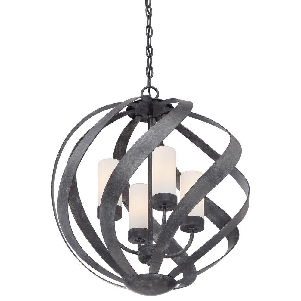 Quoizel Blacksmith 4-Light Pendant in Old Black, , large
