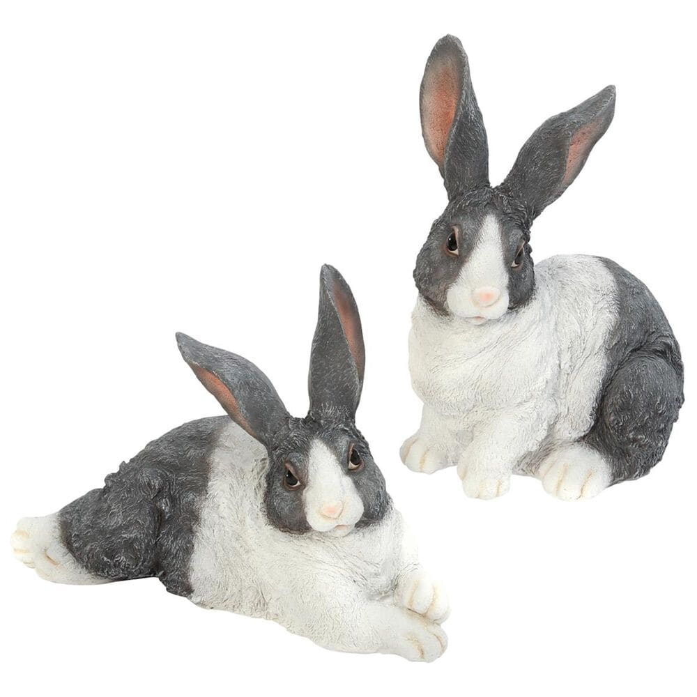 The Gerson Company Assorted Bunny Figurines (Set of 2), , large