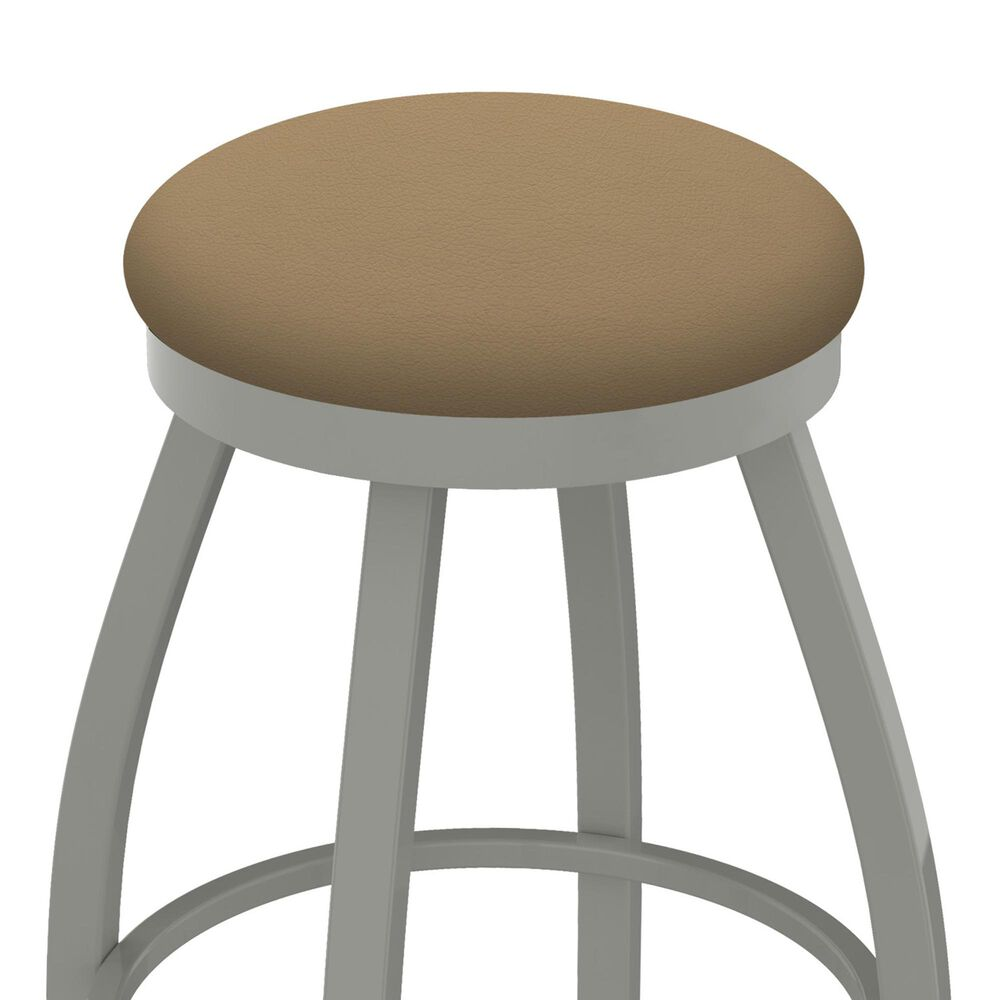 """Holland Bar Stool 802 Misha 25"""" Swivel Counter Stool with Anodized Nickel and Canter Sand Seat, , large"""