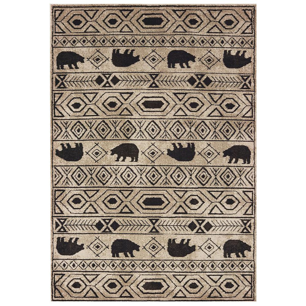 """Oriental Weavers Woodlands 9651A 5""""3"""" x 7""""3"""" Ivory Area Rug, , large"""