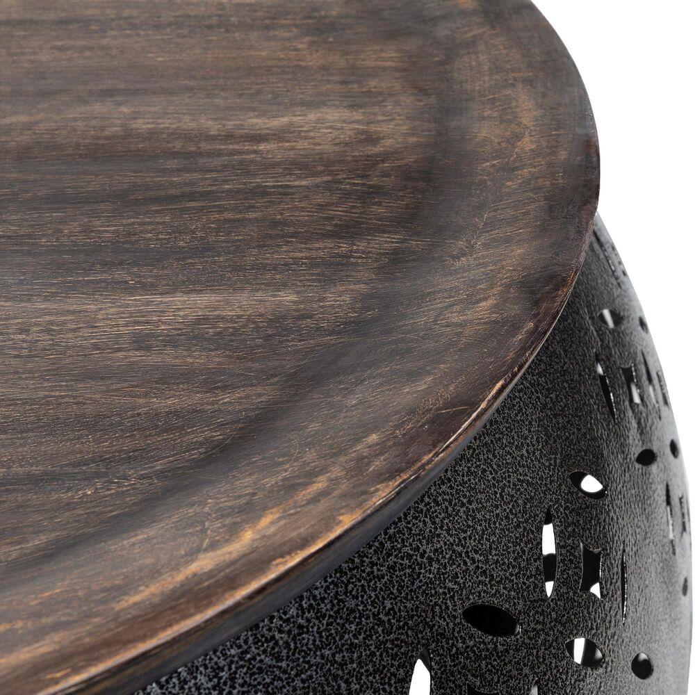 Surya Inc Jaali Coffee Table in Dark Brown and Charcoal, , large