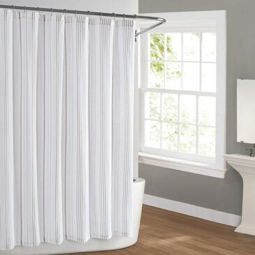 Pem America Cottage Classics Warm Hearth Shower Curtain in Tan, , large
