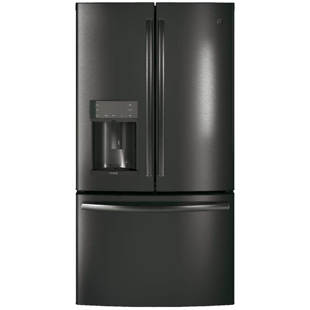 GE Profile 22.2 Cu. Ft. Counter-Depth French Door Refrigerator in Black Stainless , , large