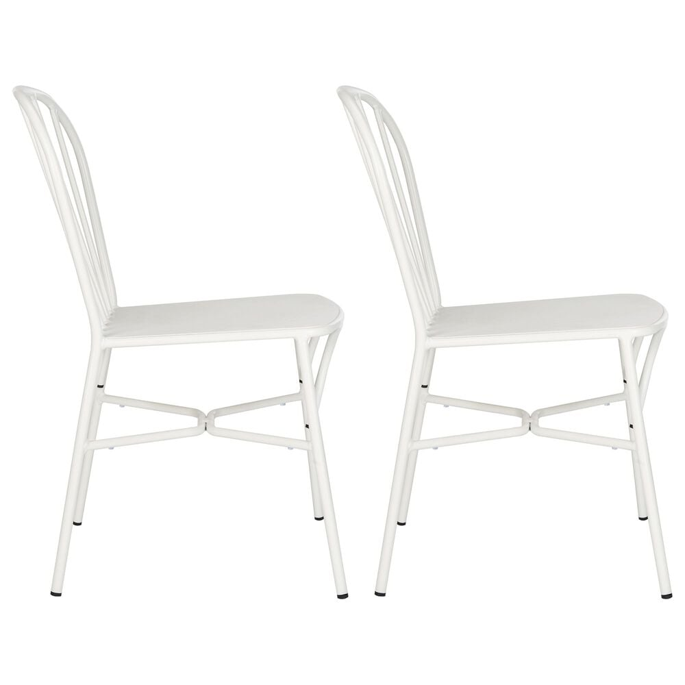 Safavieh Everleigh Stackable Side Chair in White, , large