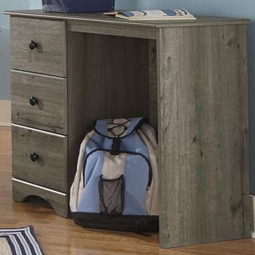 Lemoore Essential 3 Drawer Student Desk in Weathered Gray Ash, , large
