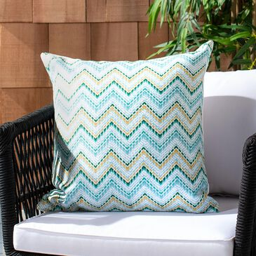 """Safavieh Zarin 18"""" Pillow in Green and Yellow, , large"""