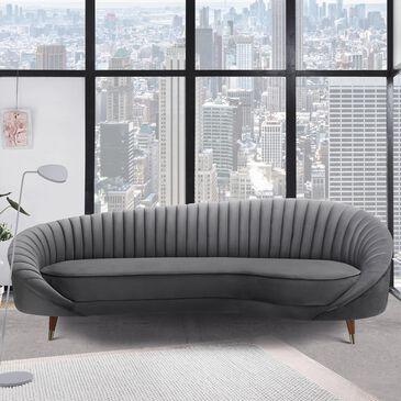 Blue River Karisma Curved Sofa in Dark Grey, , large