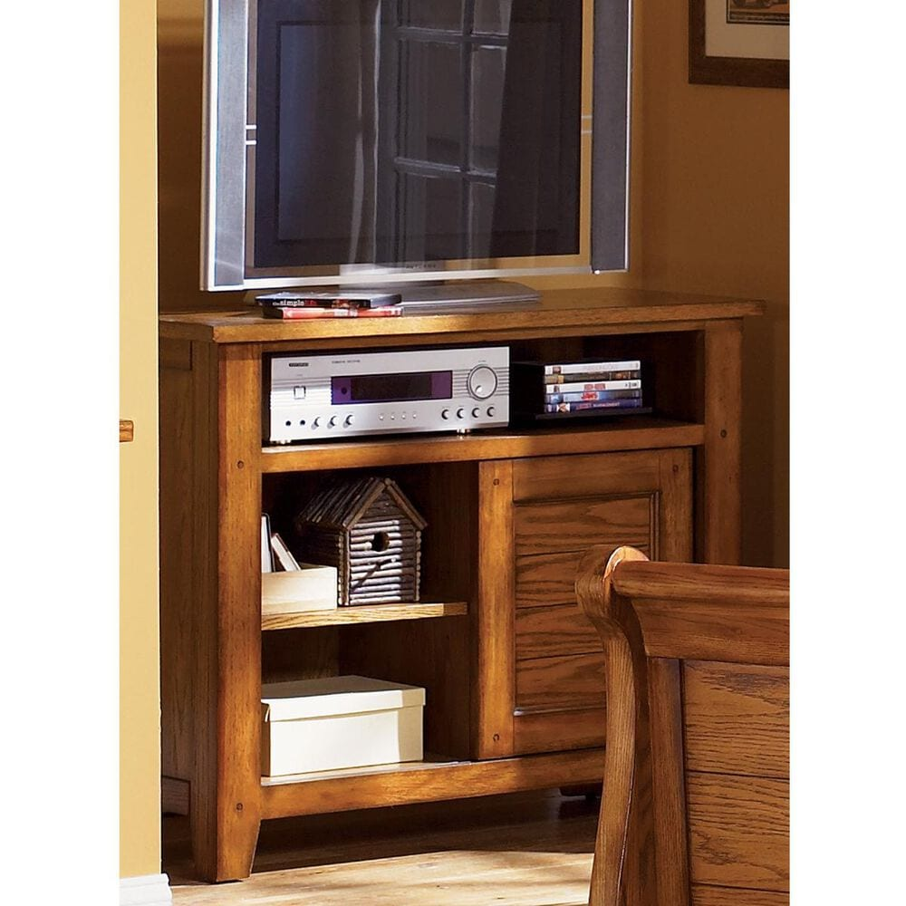 """Belle Furnishings Grandpa""""s Cabin Youth Media Chest in Aged Oak, , large"""
