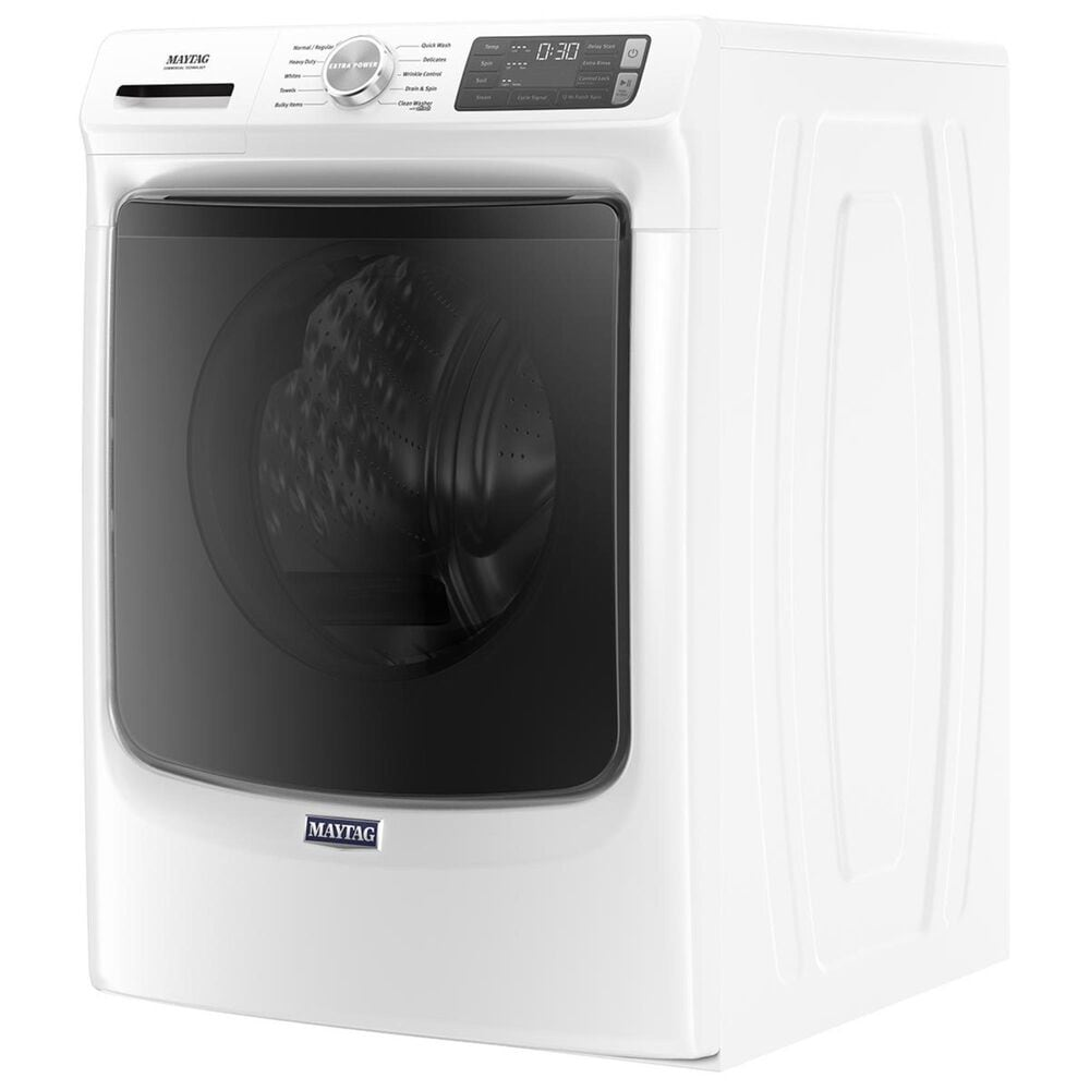 Maytag 4.5 Cu. Ft Front Load Washer with Steam in White, , large