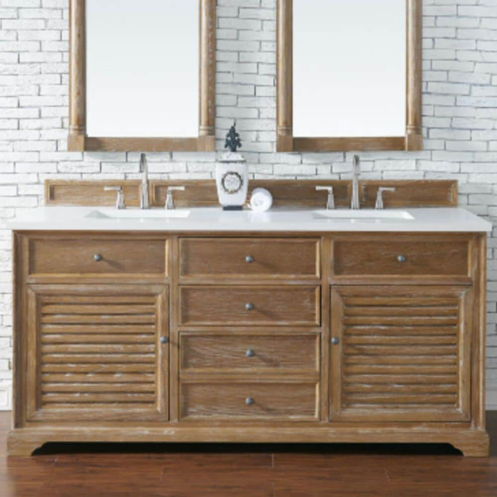 """James Martin Savannah 72"""" Double Vanity Cabinet in Driftwood, , large"""