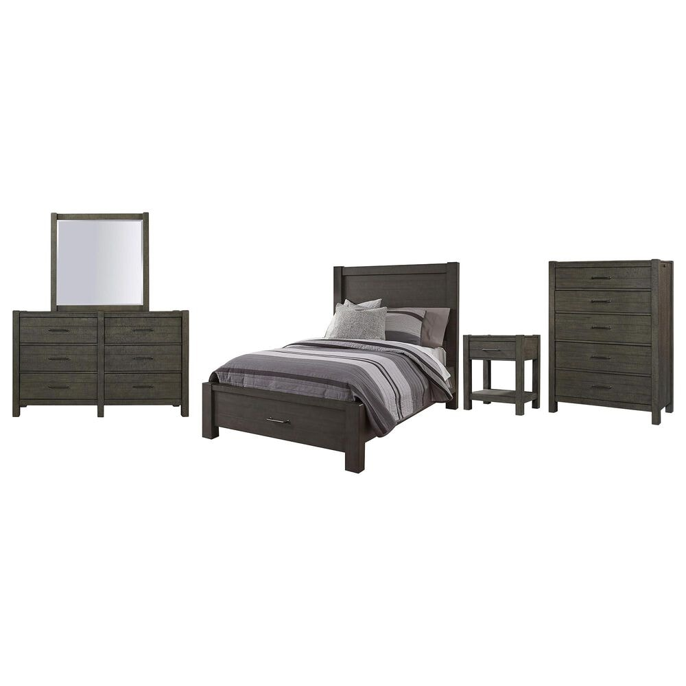 Riva Ridge Mill Creek 5 Piece Twin Storage Bed Set in Carob, , large